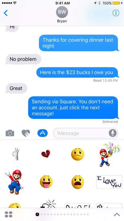 Send Money Right From iMessage