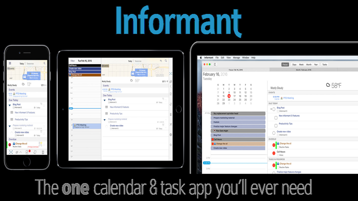 Informant - Agenda, Tasks, Notes Planner