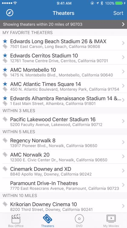 Find theaters