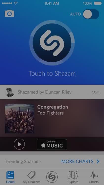 Tap to Shazam