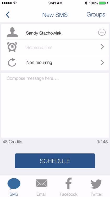 Schedule texts