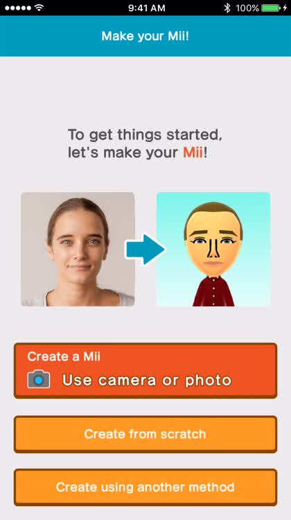 Create your Mii, it's all you