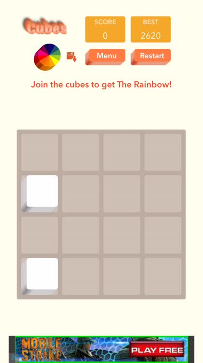 Swipe to join cubes