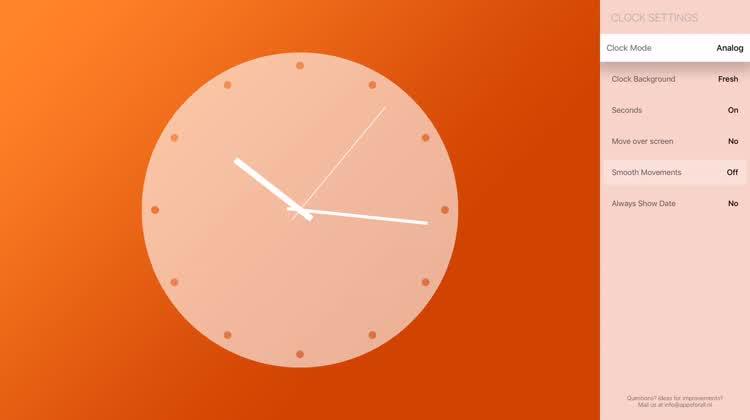 Clock Displays for Apple TV