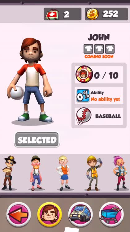 Collect coins for characters