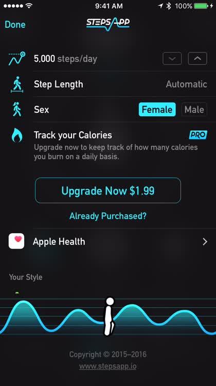 Adjust the settings