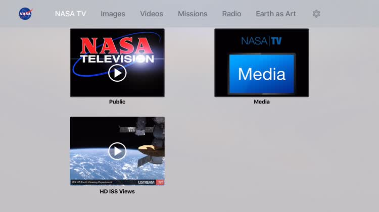 Browse the options  - 00001 - Explore Space with These Apple TV Apps