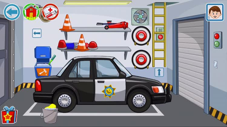 Wash the police car