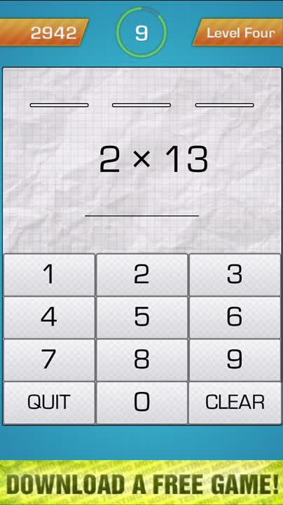Practise the multiplication