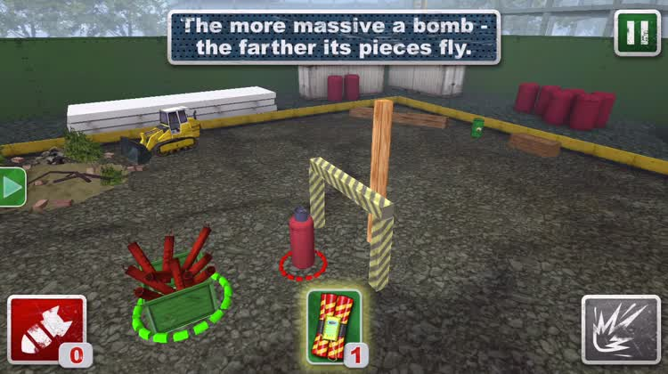 Use red bomb