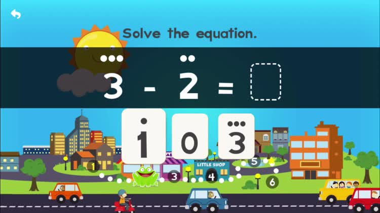 Subtraction to 5 with Pete - Numbers, colours and shapes