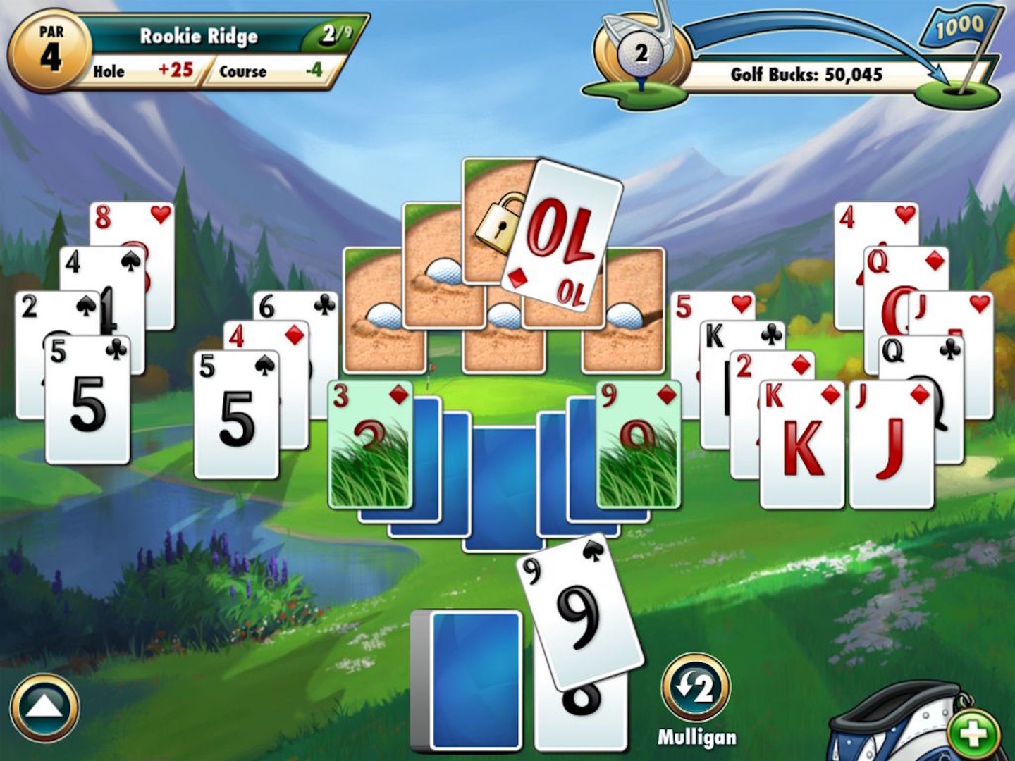 Fairway solitaire card game by big fish games inc for Fairway solitaire big fish games