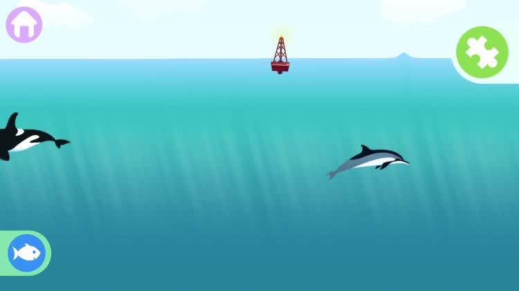 Make dolphins jump