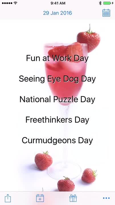 Bizarre holidays each day