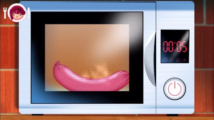 Microwave the sausage
