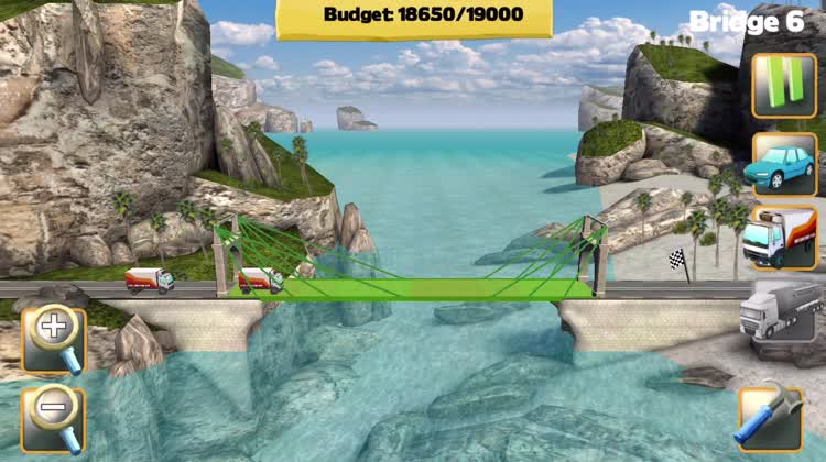 Test the bridge by trucks for the bonus