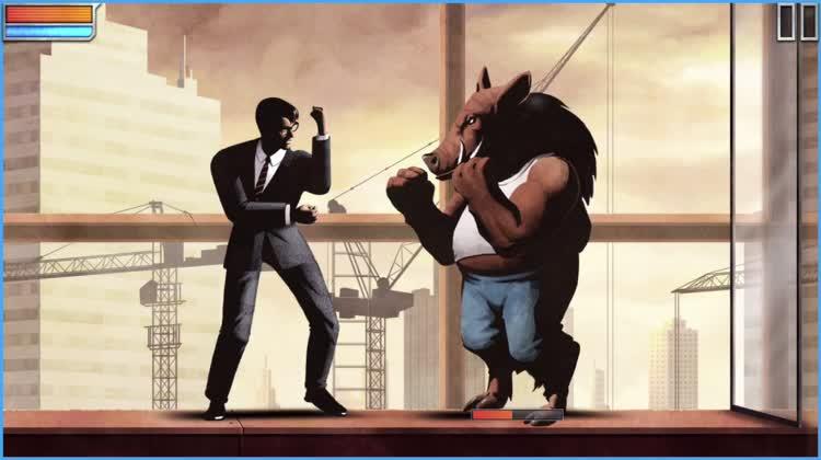 Punch and kick the guard and block his attacks