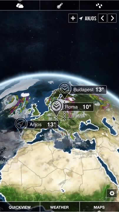 Animated 3D weather maps