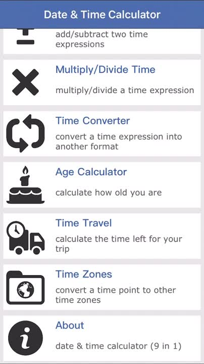 Time travel calculator