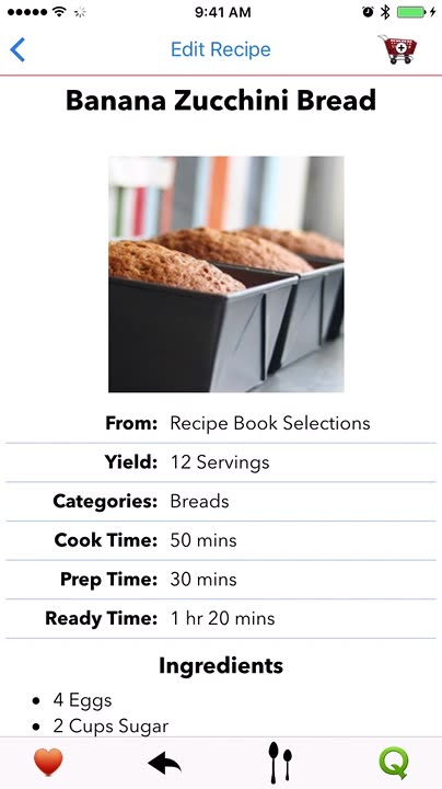 Modify your recipe and recipe servings easily