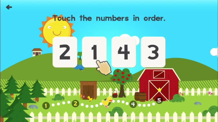 Practise the counting with Webster