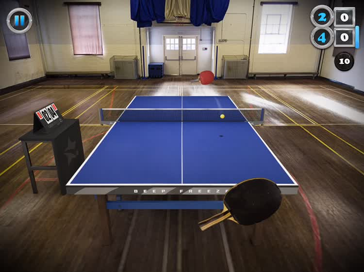 Realistic 3D Table Tennis