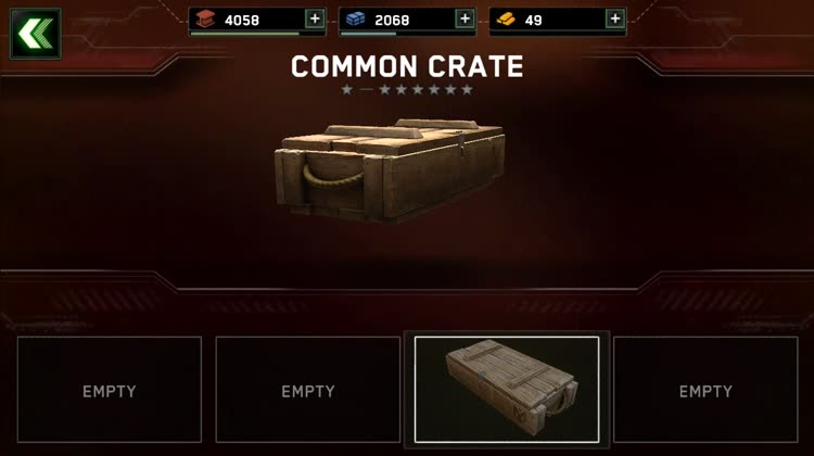 Open crates of goodies