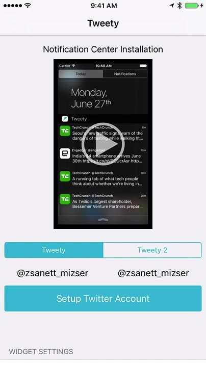 Show Twitter Timeline on Lock Screen
