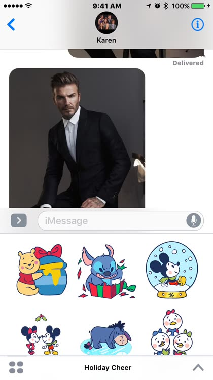 Add festive stickers to your texts