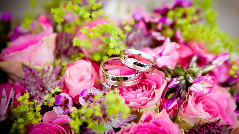 Flowers Wedding Rings