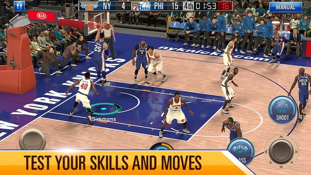 After First Being Show off in October, NBA 2K Mobile Arrives on the App Store