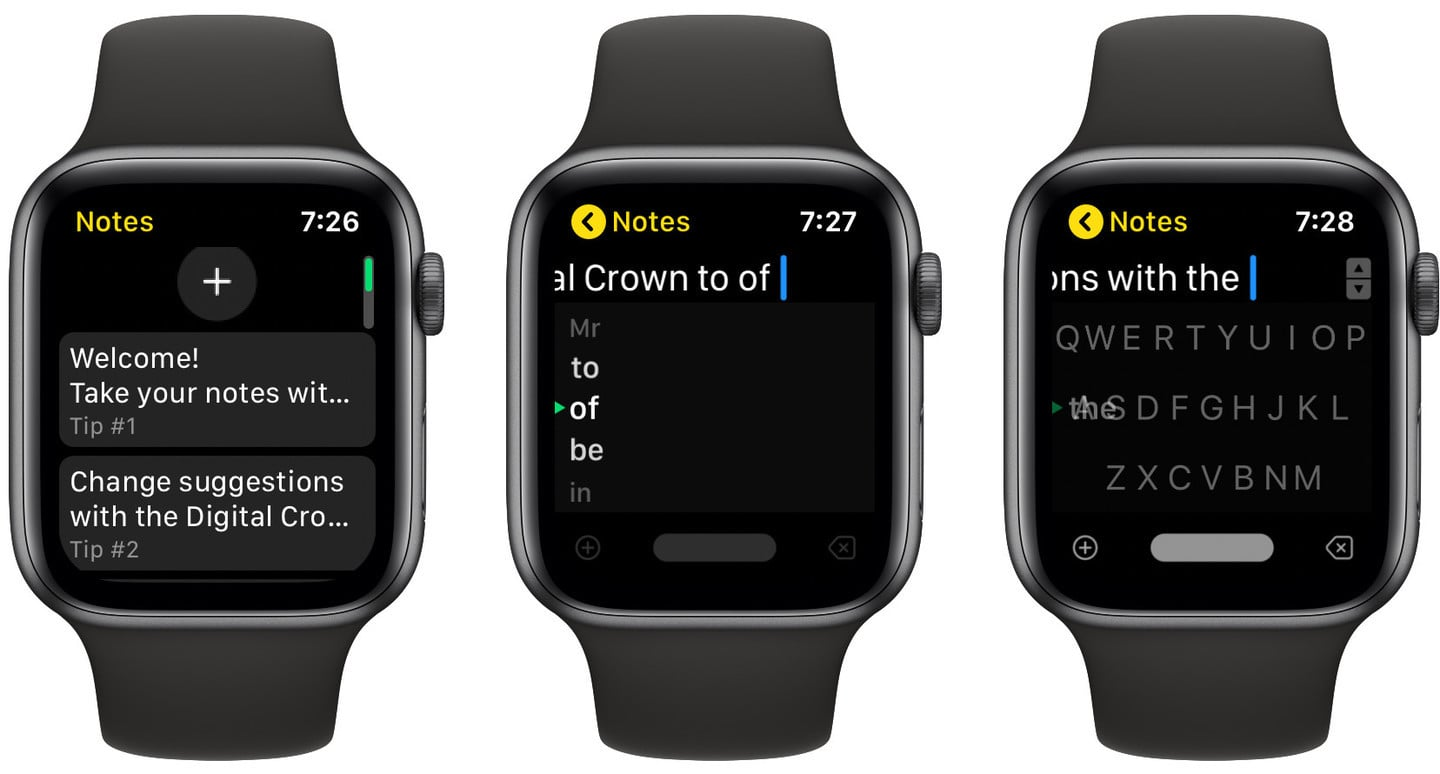 FlickType Notes is an Easy-to-Use Apple Watch Keyboard for Capturing a Quick Thought