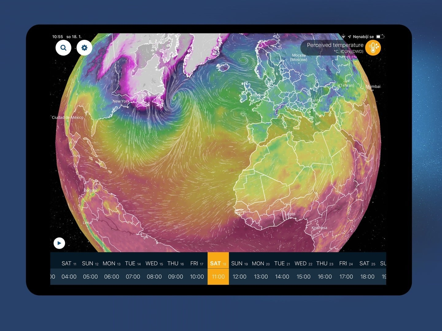 See the Weather As it Happens on a 3D Globe Using Ventusky