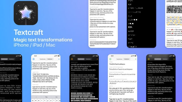 Transform Text in Real Time With Textcraft