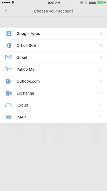 Supports all the most popular types of email accounts