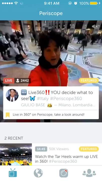 Live 360 broadcast