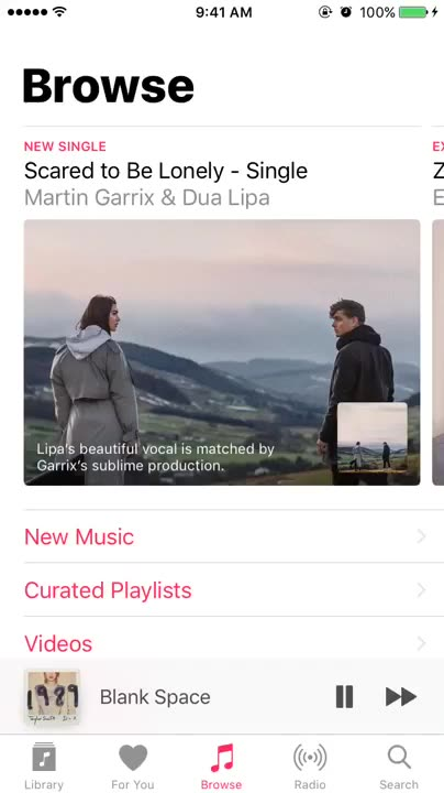"How to view Apple Music lyrics via the ""more"" button"