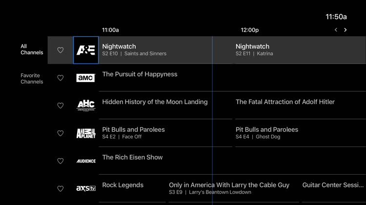 what channels do i get with apple tv