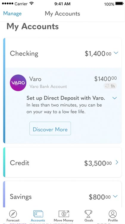 Varo: Mobile Banking & No Fees