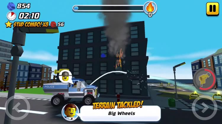 LEGO® City game has stickers