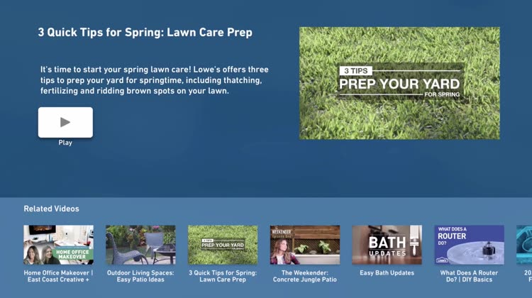 Lowes tv for apple tv by lowes companies inc welcome to the lowes tv app an inspiring source of home improvement and do it yourself projects available right from your apple tv solutioingenieria Images