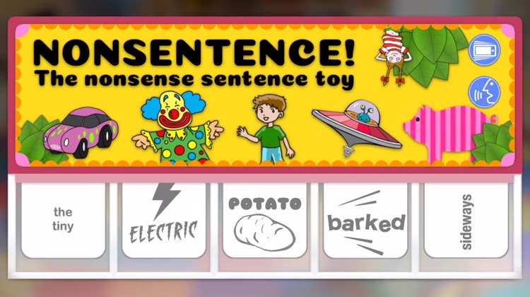 nonsentence the silly sentence app for kids by bryan vines