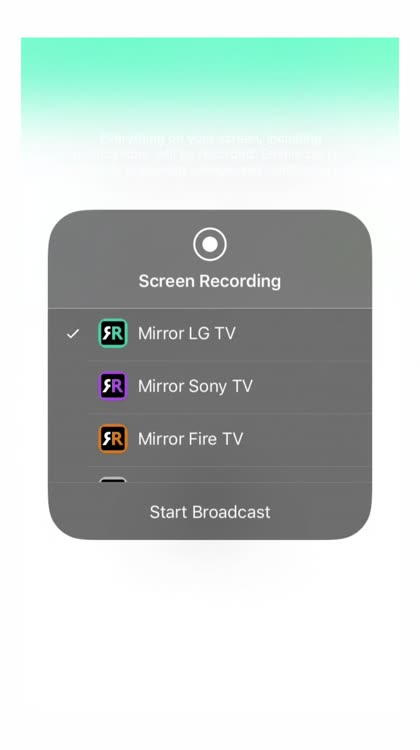 Mirror for LG Smart TV by AirBeamTV BV
