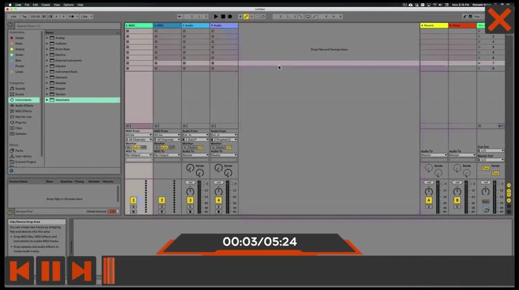 Audio Course For Ableton Live by Nonlinear Educating Inc