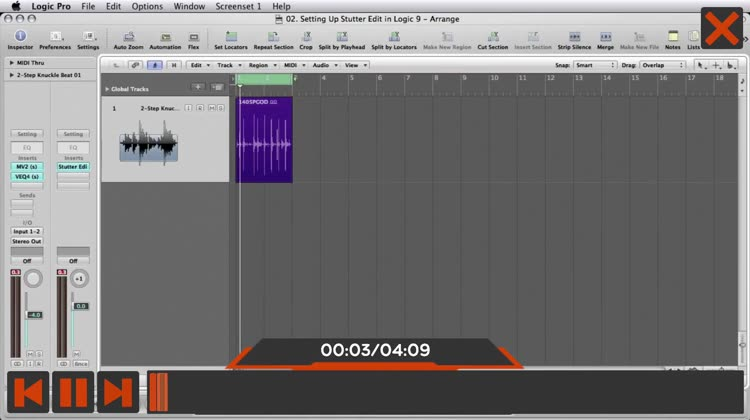 Stutter Edit for iZotope Audio by Nonlinear Educating Inc