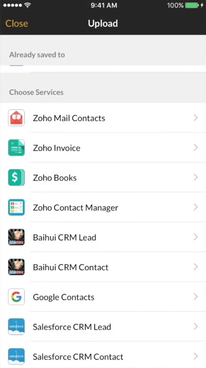 Card scanner by zoho corporation what is it about scan business cards reheart Choice Image