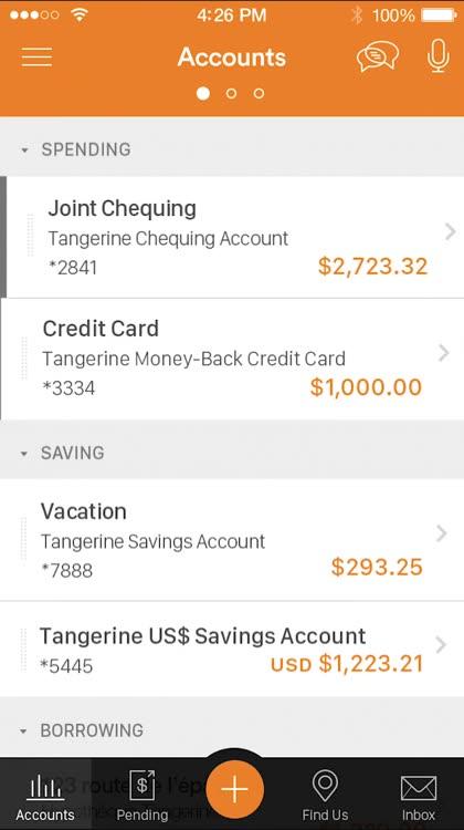 Tangerine Mobile Banking by Tangerine Bank / Banque Tangerine