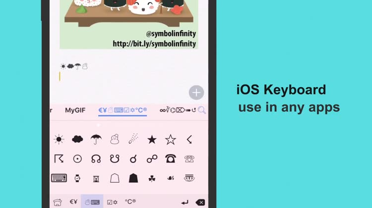 Symbol Infinity Keyboard For Emoji Text Symbols By Cool Gamapp