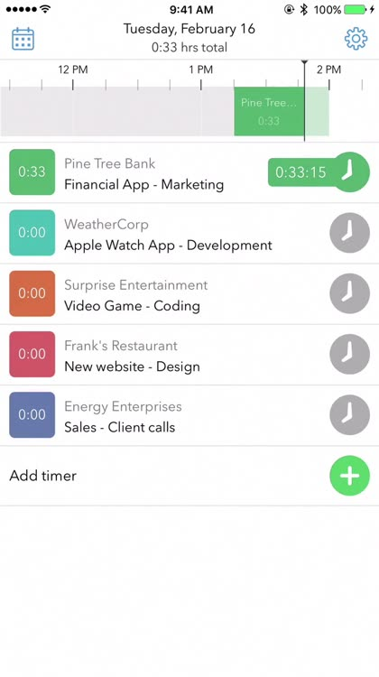 time tracking apps for ios
