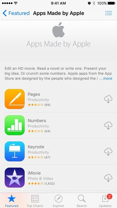 Apple makes a number of apps that are perfect for creating and editing documents, spreadsheets, and slide shows.